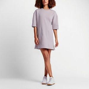 NikeLab Essentials Lavender Tech Fleece Dress